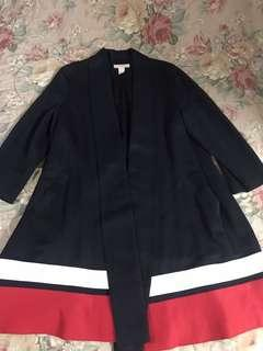 H&M navy blue coat dress