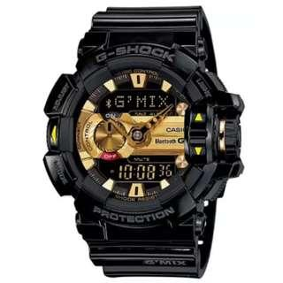 Casio G-Shock Music-Themed Black Resin Band Watch