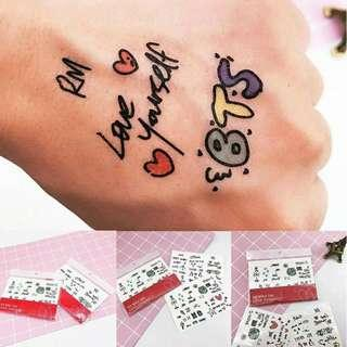 INSTOCK🔥BTS LOVE YOURSELF TATTOO STICKETS SET