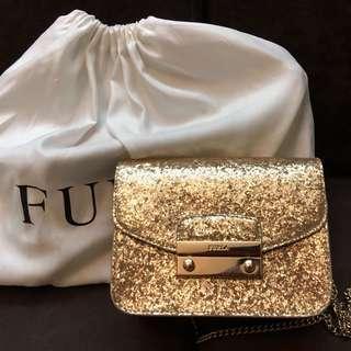 Glitter Metropolis Furla Bag (GOLD)