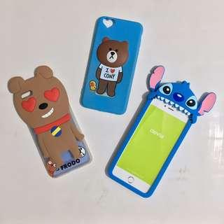 iphone 6plus 6splus Stitch brown bear kakao dog frodo case