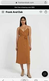 Frank and Oak Wrap Dress