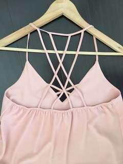 Pink strappy top