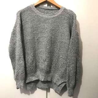 灰色冷衫 grey jersey sweater fit xs-s from Korea