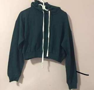 F21: cropped hoodie