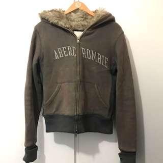 A&F Hoodie jacket fur size M