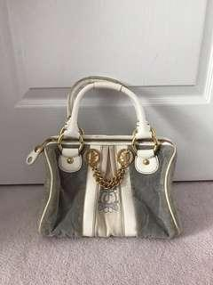 Juicy Couture Gray and White Velour Speedy Bag