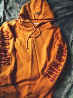 Aritzia TNA Orange Ravine Hoodie