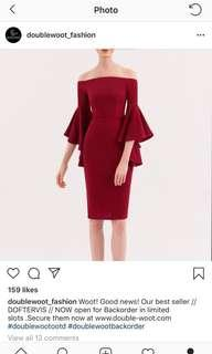 Doublewoot Red Off Shoulder Dress