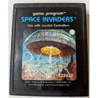 Vintage Atari SPACE INVADERS Game Cartridge 1980 with ORIGINAL MANUAL