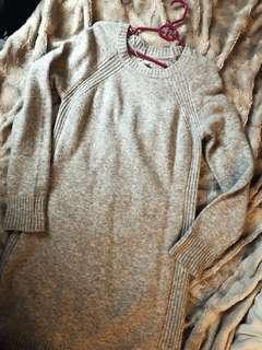 Heather Grey Alpaca Sweater Dress