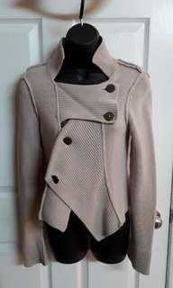 Asymmetrical Tan Sweater