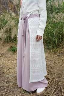 42折 全新 Rococo 2019SS lace深藍色闊腳褲