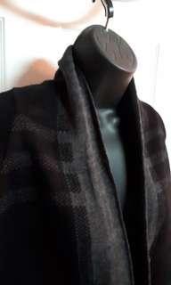 Black/grey plaid cover