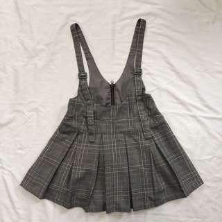 Plaid Lolita Overall Dress