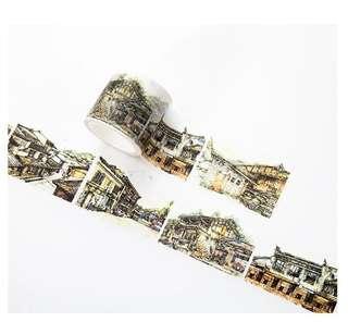 🚚 紙染 古風小鎮和紙膠帶