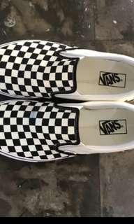 Vans Checkerboard Gum Slip on size 11 seken