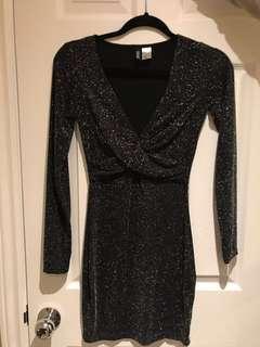 H&M Black (w/ Metallic) Dress