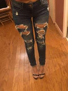 Garage ripped jeans size 1