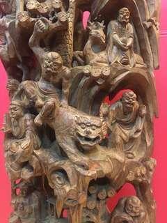 印度老山檀香十八羅漢老百年收藏件