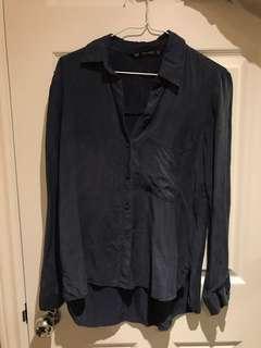 ZARA Blue Button Up Shirt
