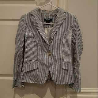 Blue and white striped blazer xs/s