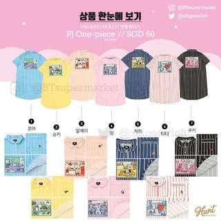 🚚 SG PO BT21xHunt Innerwear one piece dress DIRECT FR KR, OFFICIAL