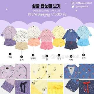 🚚 Sg PO BT21 HUNT Innerwear 3/4 shorts set