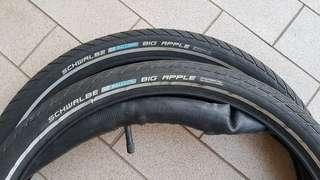 Schwalbe 20inch tyres with inner tubes