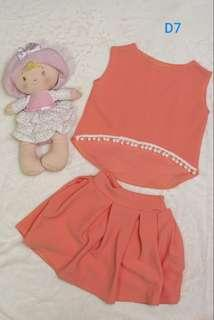 Pre-loved baby set terno blouse and skirt