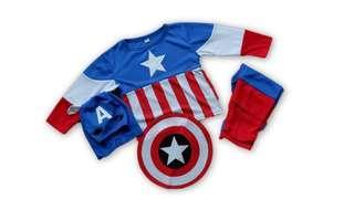 🚚 Captain America kids party costume