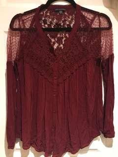AMERICAN EAGLE Lace Blouse