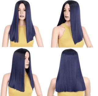Brand new 19 inch blue synthetic wig