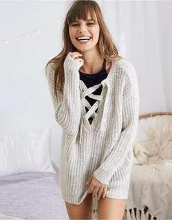 Aerie Knit Lace Up Sweater!