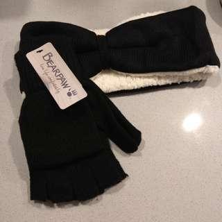 Bearpaw headband and glove set