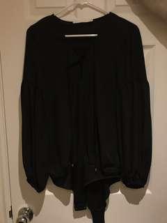 ZARA Black Crisscross Bodysuit