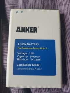 Galaxy note 3 battery 6400mah