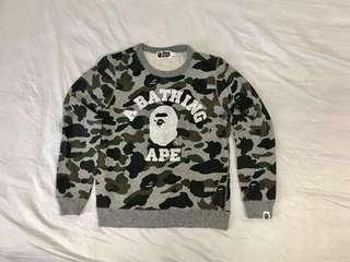 💯 Authentic Bape Camo Long sleeve Sweatshirt