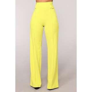 Brand new with tags yellow dress pants