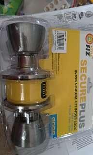 🚚 60mm Chrome Cylinder Lock New
