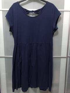 Dorothy Perkins Navy Casual Basic Dress with Bow