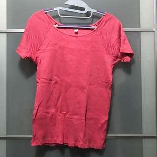 Uniqlo Pink Ballet Ribbed Tee