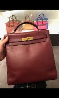 Mint Hermes Kelly Ado Backpack