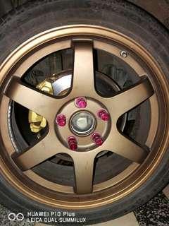 Fto disk brake + rim 17 te37 swap