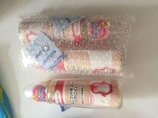 Chu Chu glass milk bottles x 3
