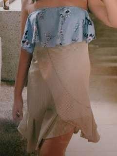 SALE Ruffle Brown Skirt