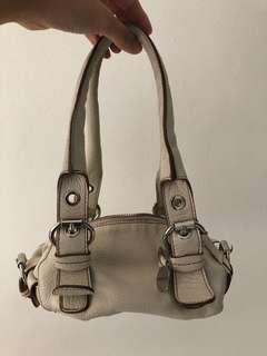 Rabeanco genuine leather handbag small beige