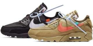 WTB NIKE OW AIR MAX90