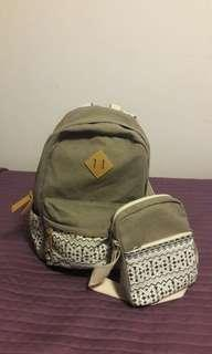 Backpack and lunch bag set
