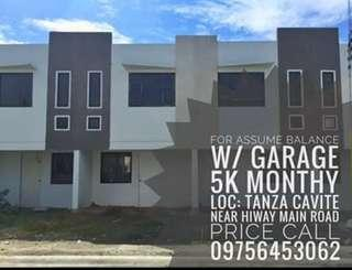 House and Lot fpr assume balance Tanza, Cavite